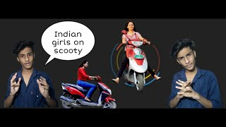 Indian girls on scooty | Funny moments of girls with scooty | Epic fails | 2020 | Honey rajalwal