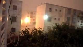 فقط في الجزائر سبحان الله ظاهرة طبيعية غريبة النّهار أصبح ليل في الجزائر 2014