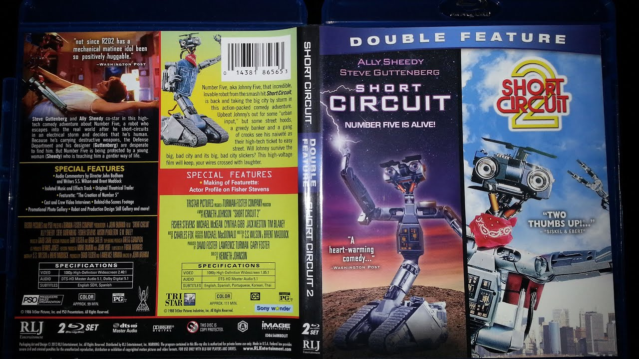 short circuit short circuit 2 blu ray box set product review youtube rh youtube com short circuit 2 dvd cover short circuit 2 movie