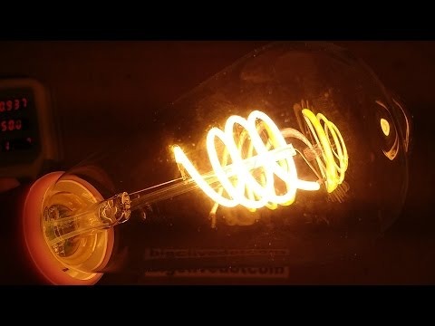 Spiral LED Filament Lamp Teardown.  (With Schematic.)