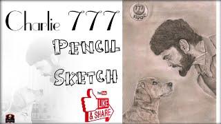 Charlie 777 pencil sketch