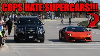POLICE CHASE DOWN SUPERCARS THAT SEND IT LEAVING DALLAS CARS AND CANTINA!!!