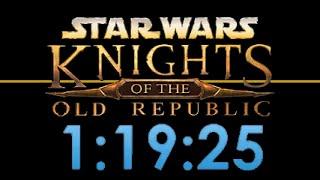 SW: KotOR Any% in 1:19:25