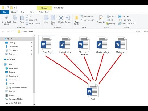 How To Merge MS Word Files Into One Document (Easy)