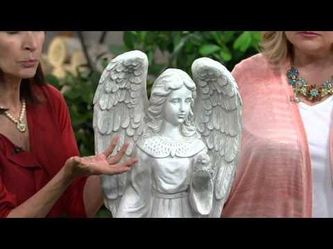 Solar Garden Angel Statue on QVC