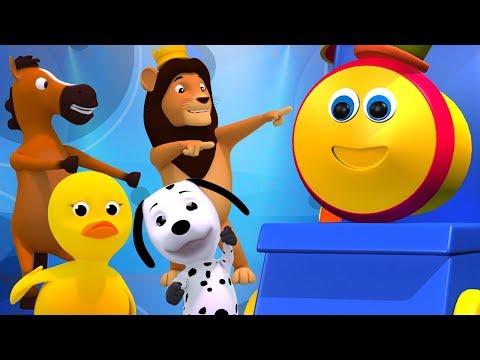 Bob le train | animaux sonne chanson | rimes pour enfant | éducative chanson | Bob Animal Sound Song