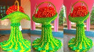 Paper Flower | Pindi Decoration | Pindi Perunnal Decoration Ideas | Pindi Perunnal Decoration Ideas