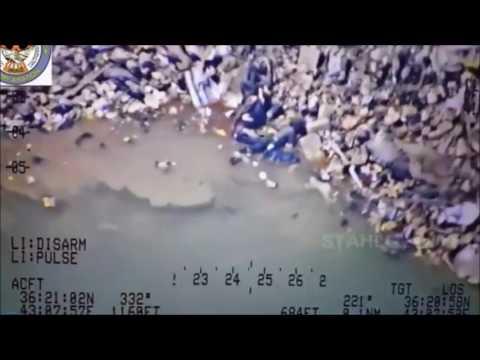 Dicle Nehrin'de Yüzen Teröristler'e Mermi Yağdı!