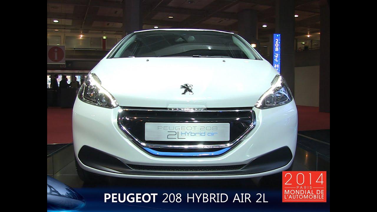 live mondial auto 2014 : peugeot 208 hybrid air - youtube