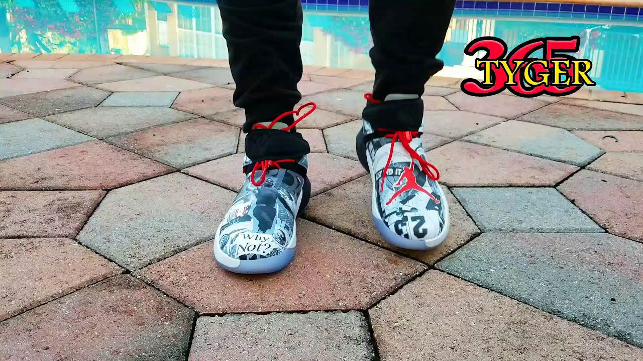 cfc3c0ce90e091 Air jordan  WESTBROOK zero 1  Why not  ON FOOT REVIEW - YouTube