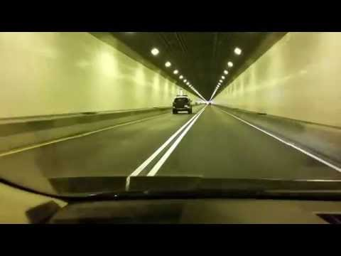 Driving through the Squirrel Hill tunnel Pittsburgh Parkway east inbound