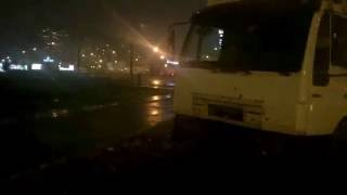 Страшный ДТП 09.11.16  в Киеве Пр. Бажана  Киа и 3 рефрижератор.