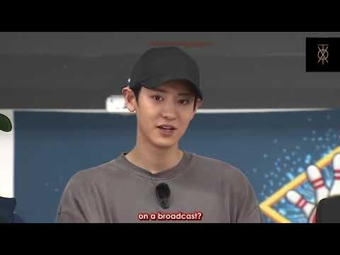 EXO v/s TVXQ Kingpin match bowling Chen chanyeol changmin yunho.  | | leeteuk super junior as MC | |
