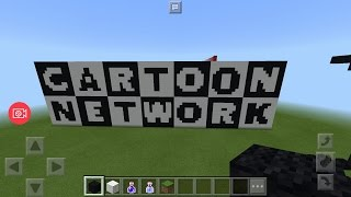 Minecraft Tutorial : How To Make Cartoon Network Logo Pixel Art