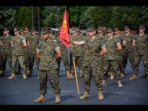 USMC OCS Graduation India Company 1st Increment 2017