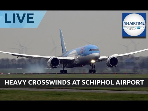 LIVESTREAM: STORM AT SCHIPHOL AIRPORT