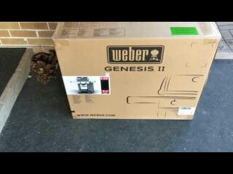 unboxing and review weber genesis ii e 210 bbq youtube. Black Bedroom Furniture Sets. Home Design Ideas