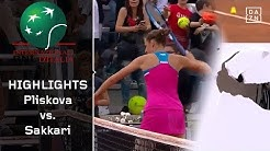 Fehlentscheidung und Frust: Karolina Pliskova - Maria Sakkari | WTA Rom | Highlights | DAZN Tennis