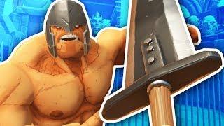 NEW BIGGEST SWORD EVER IN GORN VR (GORN Gladiator Simulator HTC Vive Funny Gameplay)