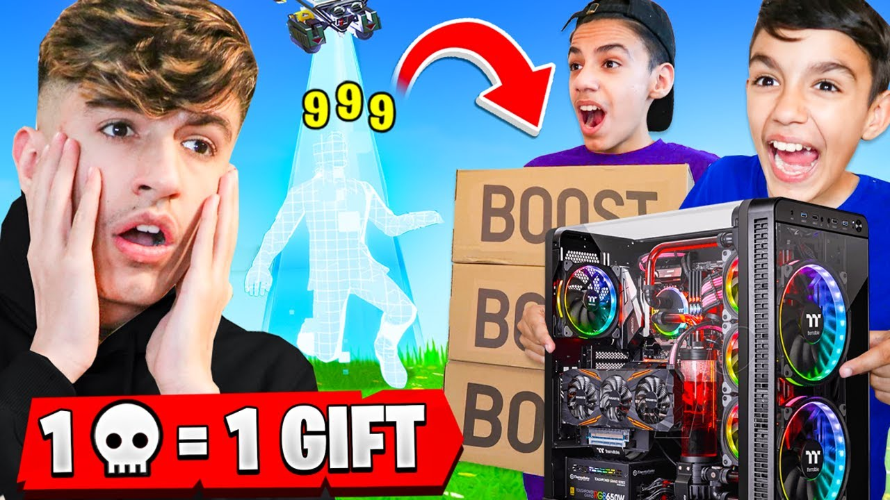 Every Time I Die In Fortnite I Buy My Brothers Anything They Want! (Gaming PC)