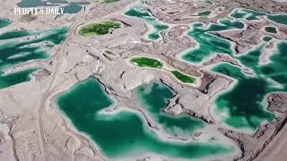 Like an emerald! Spectacular scenery at Dachaidamu Lake in NW China's Qinghai.