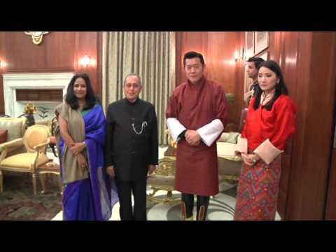 KING OF BHUTAN CALLS ON THE PRESIDENT - 07-01-2014