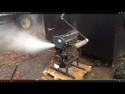4 cylinder, 2.4 liter, 16 valve engine converted to a steam engine