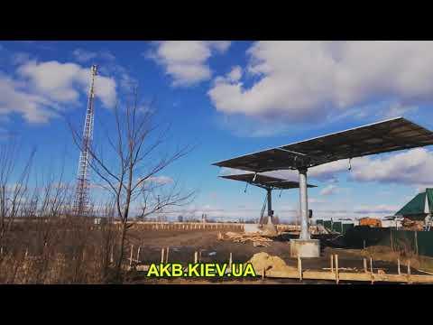 2 Трекера по 40 солнечных панелей 15кВт установка #SolarSanGPS