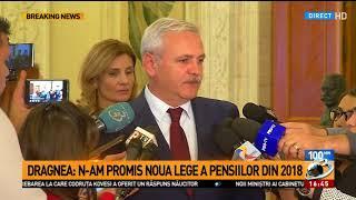 Liviu Dragnea, despre legea pensiilor: N-am promis noua lege din 2018