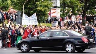 شاهد مرور موكب الرئيس السيسى بشوارع المانيا