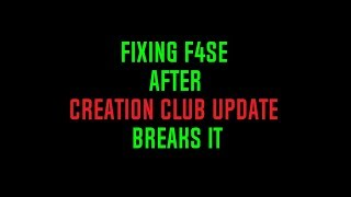 Fixing F4SE after Creation Club update (Fallout 4 rollback Tutorial)