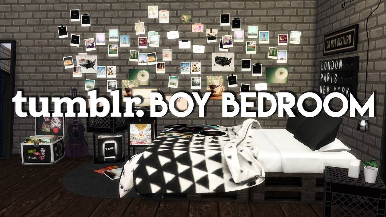 The Sims 4 Room Build Tumblr Boy Bedroom Youtube