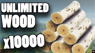 HOW TO GET UNLIMITED WOOD IN FORTNITE! EASY FAST WAY TO GET WOOD!
