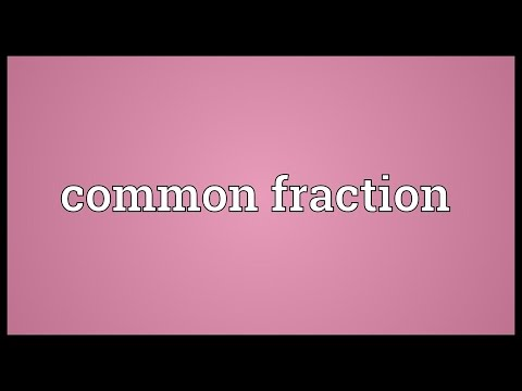 Header of common fraction