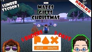 Roblox - Holz Tycoon 2 - Maze Erinnerung, Geschenke und 5 3-Tage PAX Abzeichen