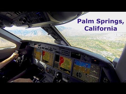 Mountains flying | Landing in Palm Springs CA | G550