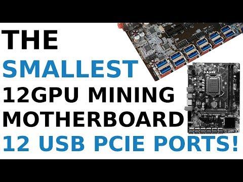 SMALLEST 12 GPU MINING MOTHERBOARD! 12 USB PCIE PORTS BTC B250C MATX