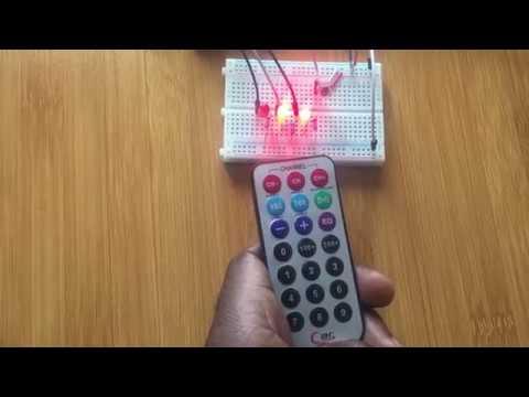 ARDUINO: IR REMOTE CONTROL OF LEDS