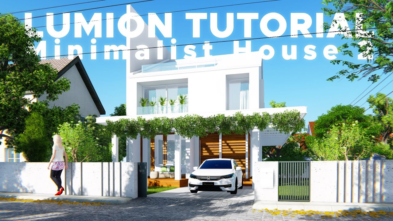 Sketchup Render Lumion 6 54 Minimalist House 2 Youtube