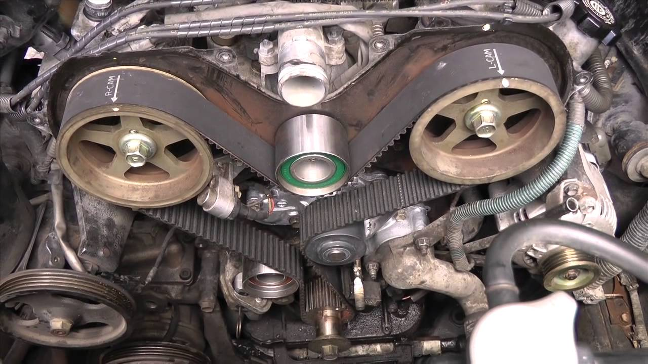 small resolution of toyota v6 5vzfe timing belt replacement diy part 2