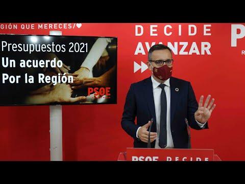 El PSRM tiende la mano a López Miras para negociar los Presupuestos de la Comunidad