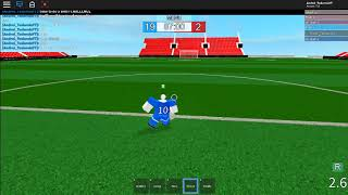 Roblox Ro evolution soccer game.