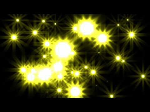Yellow Stars Moving into Camera Royalty Free Backgorund Video Effect Footage AA VFX