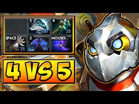 видео: 4 vs 5 КЛОКВЕРК 7.01 ДОТА 2 █ clockwerk 7.01 dota 2