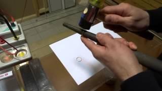 Как выровнять золотое кольцо