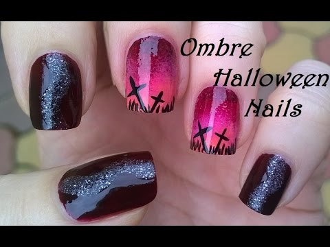 HALLOWEEN Nail Art Tutorial / DIY Elegant Ombre Nails With ...