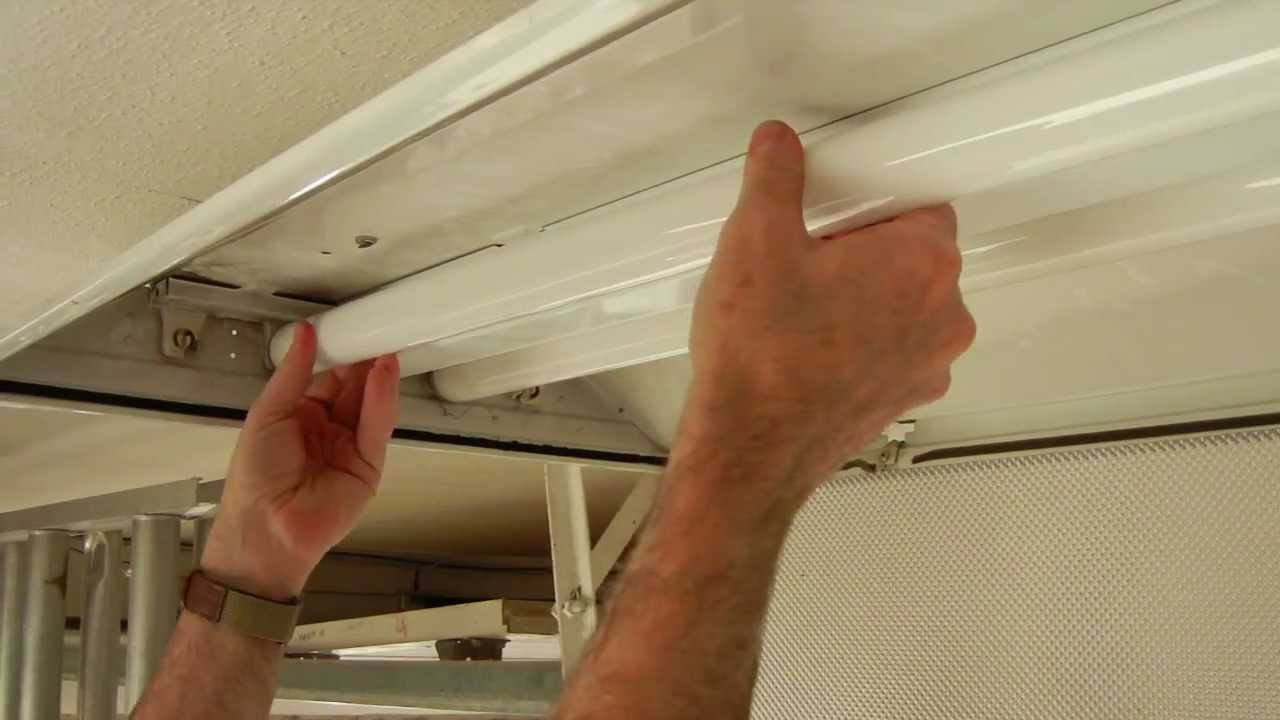 T12 Fluorescent Light Fixtures How To Install A T8 Electronic Fluorescent Ballast In An Old Magnetic T12 Ballast Fixture