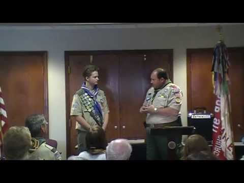 Miles' Eagle Court of Honor - Actual Ceremony