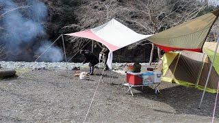 お花見には少し早かったが、いつものメンバーで楽しいキャンプができま...
