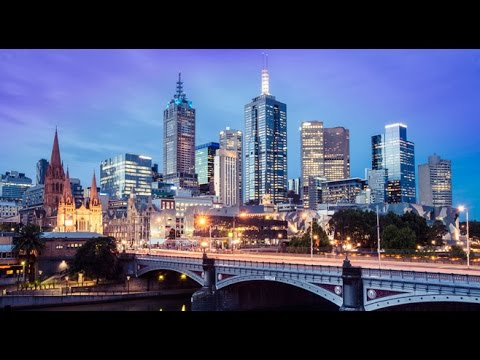 Melbourne, Australia, City center in 4K